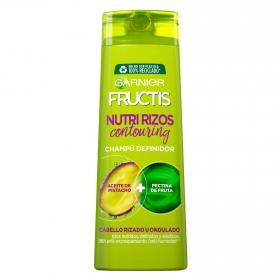 Champú fortificante Hidra Rizos para cabello rizado u ondulado Garnier-Fructis 360 ml.