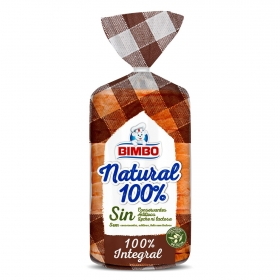 Pan integral natural 100% Bimbo 450 g.