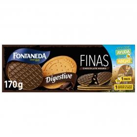 Galletas finas con chocolate negro Digestive Fontaneda 170 g.