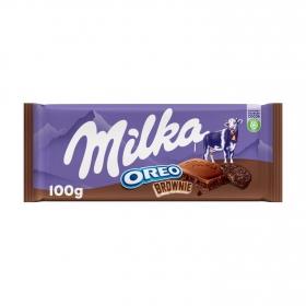 Chocolate oreo brownie Milka 100 g.