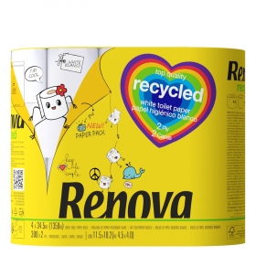 Papel higiénico doble rollo recicled Renova