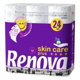 Papel higiénico Skin Care Plus Renova 24 rollos.