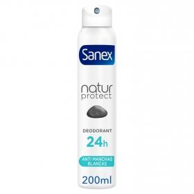 Desodorante en spray Natur Protect con piedra de alumbre Sanex 200 ml.