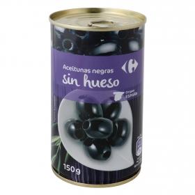 Aceitunas negras sin hueso Carrefour 150 g.