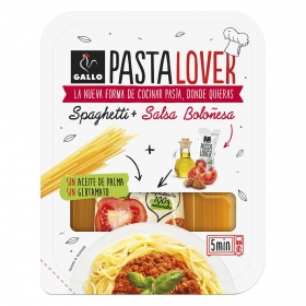 Spaghetti + salsa boloñesa Pastalover Gallo 260 g.