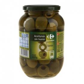 Aceitunas gordal sin hueso Carrefour 400 g.