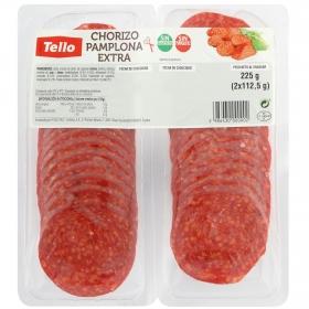 Chorizo pamplona Tello bipack loncheado (2x112,5g) 225 g