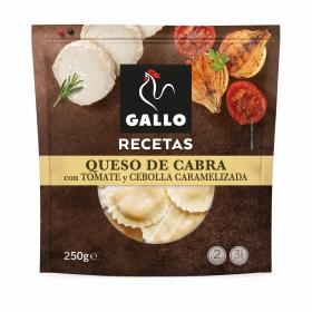 Soles de queso de cabra con tomate y cebolla confitados Gallo 250 g.