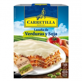 Lasaña de verduras y soja Veggie Carretilla 375 g.