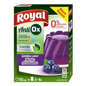 Gelatina antiox sabor arándanos 0% azúcar Royal 31 g.