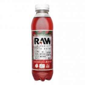 Bebida Isotónica ecológica Super Drink Raw sin gluten sabor fresa y menta botella 50 cl.