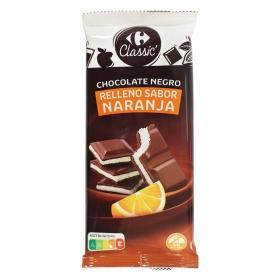 Chocolate negro relleno de naranja Carrefour 100 g.