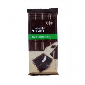 Chocolate negro relleno de menta Carrefour 100 g.
