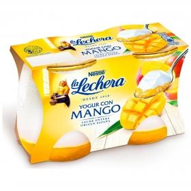 Yogur con mango Nestlé La Lechera pack de 2 unidades de 125 g.