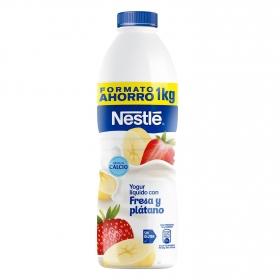 Yogur líquido con fresa y plátano Nestlé sin gluten 1 kg.