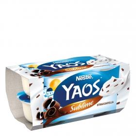 Yogur griego de stracciatella sublime Nestlé Yaos pack de 4 unidades de 110 g.