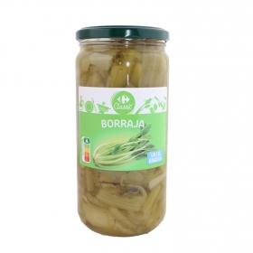 Borraja sin sal añadida en tarro Carrefour 400 g.