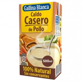 Caldo casero de pollo 100% Natural Gallina Blanca 500 ml.