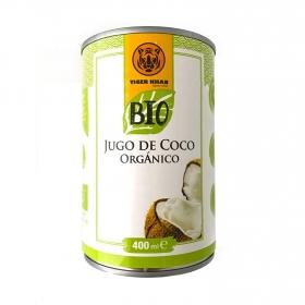 Leche de coco ecológica Tiger Khan lata 400 ml.