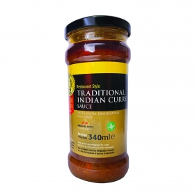 Salsa indian curry Tiger Khan sin gluten 340 ml.