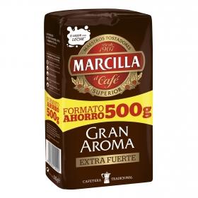 Café molido extrafuerte Gran Aroma Marcilla 500 g.