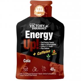 Gel energético + cafeína sabor cola Victory pack de 3 bolsitas de 40 g.