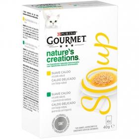 Purina Gourmet Crystal Soup Comida para Gato Pollo Natural y Verduras 4x40g
