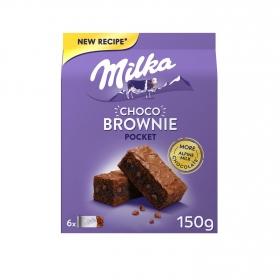 Bizcocho brownie Milka 150 g.