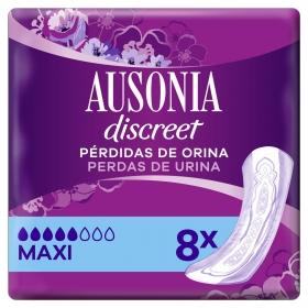 Compresas para pérdida de orina maxi Ausonia Discreet 8 ud.