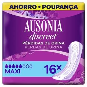 Compresas para pérdida de orina maxi Ausonia Discreet 16 ud.