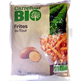 Patatas fritas para horno ecológicas Carrefour Bio 600 g.