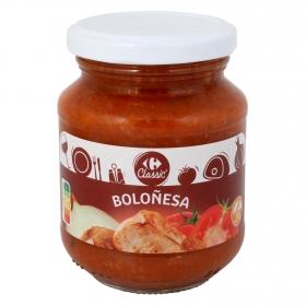 Salsa boloñesa Carrefour sin gluten tarro 300 g.