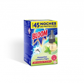 Insecticida eléctrico mosquitos común y tigre líquido recambio Bloom 1 ud.