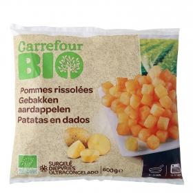 Patatas en dados ecológicas Carrefour Bio 600 g.