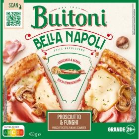 Pizza de jamón y champiñones Bella Napoli Buitoni 415 g.