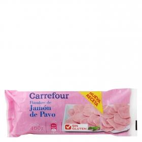 Jamón de pavo Carrefour sin gluten 400 g.
