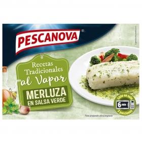 Merluza en salsa verde al vapor Pescanova 260 g.