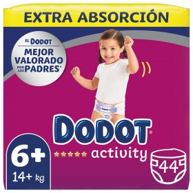Pañales Dodot Activity Extra T6 (+14 kg) 44 ud.