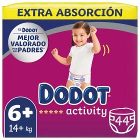 Pañales Dodot activity Extra Talla 6 (+16 kg) 44 ud.