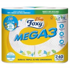 Papel de cocina Mega 3 Foxy 2 rollos.
