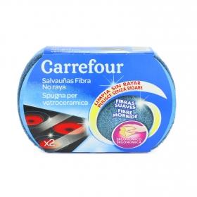 2 Estropajo salvauñas  Carrefour - Azul