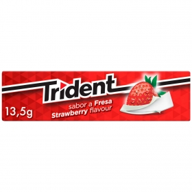 Chicles sabor fresa Trident 13,5 g.