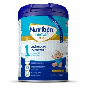 Leche infantil de inicio para lactantes desde el primer día en polvo Nutribén Innova 1 sin aceite de palma lata 800 g.