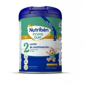 Leche infantil de continuación desde 6 meses en polvo Nutribén Innova 2 sin aceite de palma lata 800 g.