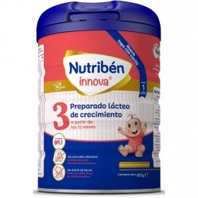 Leche infantil de crecimiento desde 12 meses en polvo Nutribén Innova 3 sin aceite de palma lata 800 g.
