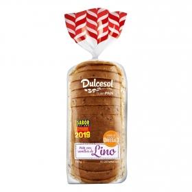 Pan de molde con semillas de lino DulceSol 500 g.