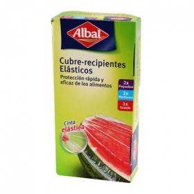 Cubre recipientes elásticos quick tops 2 pequeños+ 2 medianos + 1 grande Albal 1 ud.