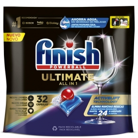 Lavavajillas máquina quantum ultimate en pastillas Finish 35 ud.