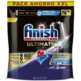 Lavavajillas máquina quantum ultimate en pastillas Finish 65 ud.