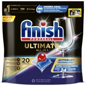 Lavavajillas máquina quantum ultimate en pastillas Finish 22 ud.